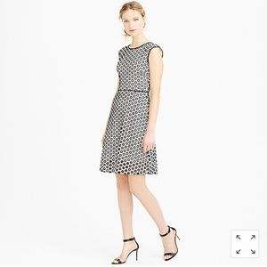 Nwt J. Crew Punched-out Eyelet Dress Black & White